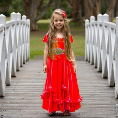 FLOWER GIRL DRESS RED