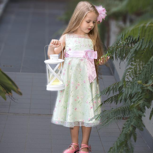 Flower girl dress light green sample size 5 jessica hunt flower girl dress mightylinksfo
