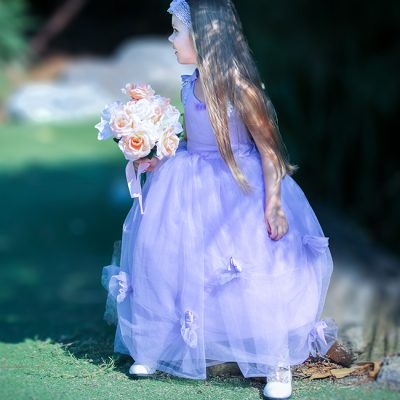 FLOWER GIRL DRESS LAVENDER