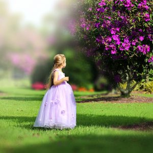 FLOWER GIRL DRESS PURPLE