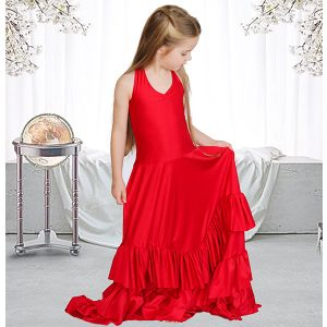 flamenco flower girl dress