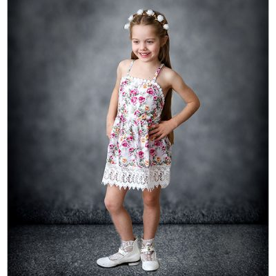 floral flower girl dress