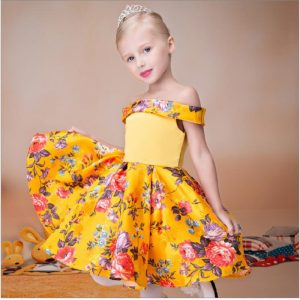 flower girl dress yellow