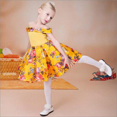 flower girl dress yellow