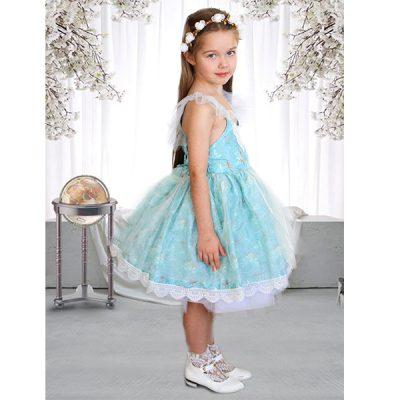 vintage floral flower girl dress