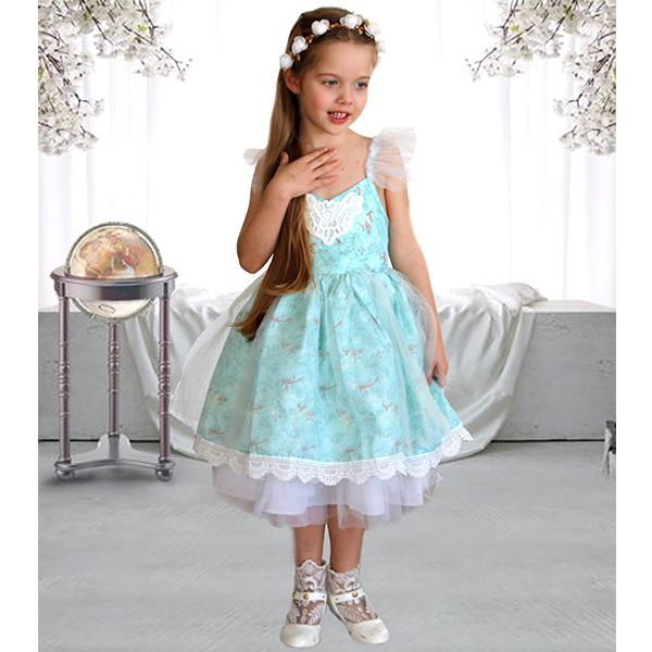 84ce00e90b BLUE VINTAGE FLORAL FLOWER GIRL DRESS - Jessica Hunt