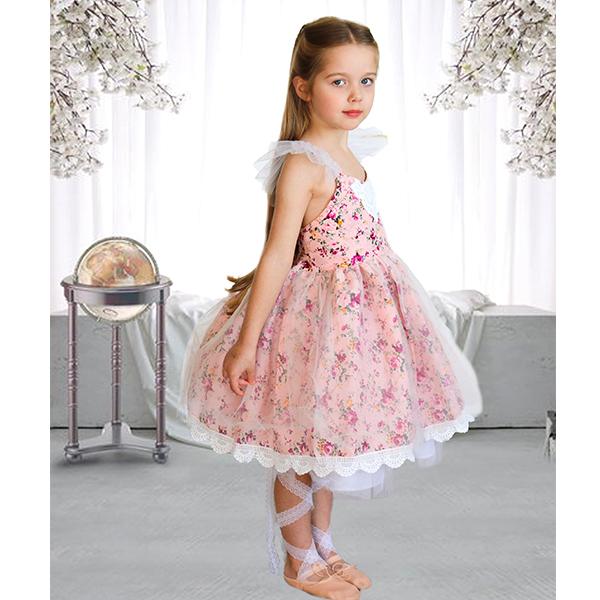 2a639a9fce2ac PINK VINTAGE FLORAL FLOWER GIRL DRESS - Jessica Hunt